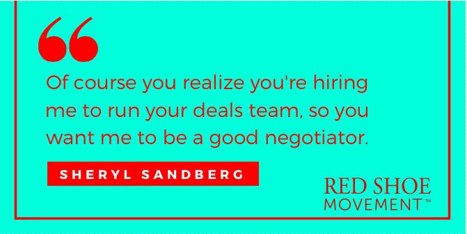Negotiation quote by Sheryl Sandberg