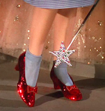 The magical red shoes of Wizard of Oz