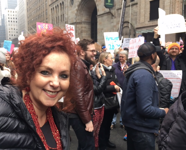 I marched in #WomensMarch NYC to show I care about words.