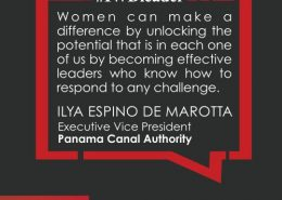 In a male dominated occupation, Ilya Espino de Marotta has shattered the glass ceiling