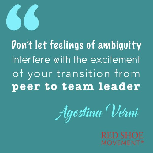 When you are promoted for the first time it may create feelings of ambiguity.
