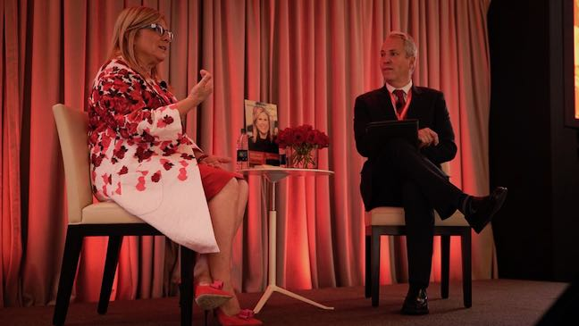 Lisa Lutoff-Perlo and Philip Klint during the Keynote interview at RSM Signature Event 2017