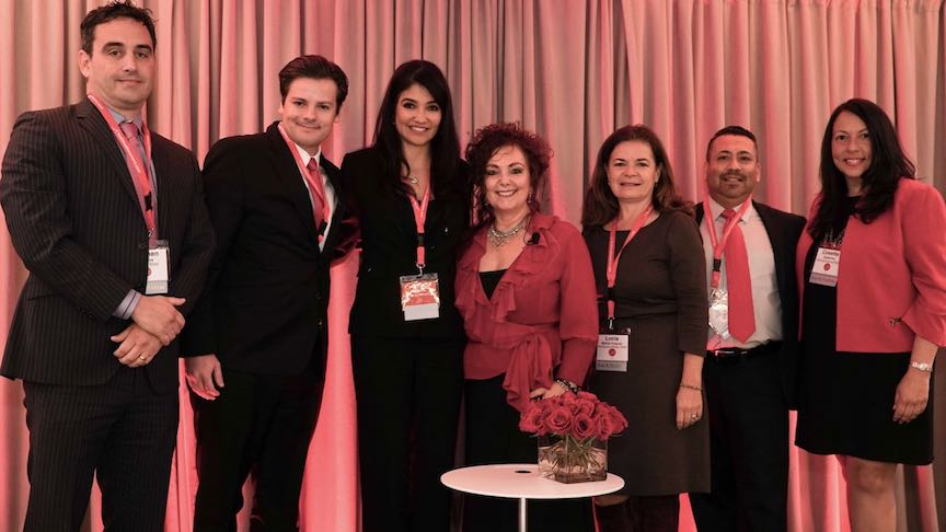 From Left to right: Stephen Palacios, Joe DiGiovanni, Lily Benjamin, Mariela Dabbah, Lucía Ballas-Traynor, Ali Curi and Cosette Gutiérrez.
