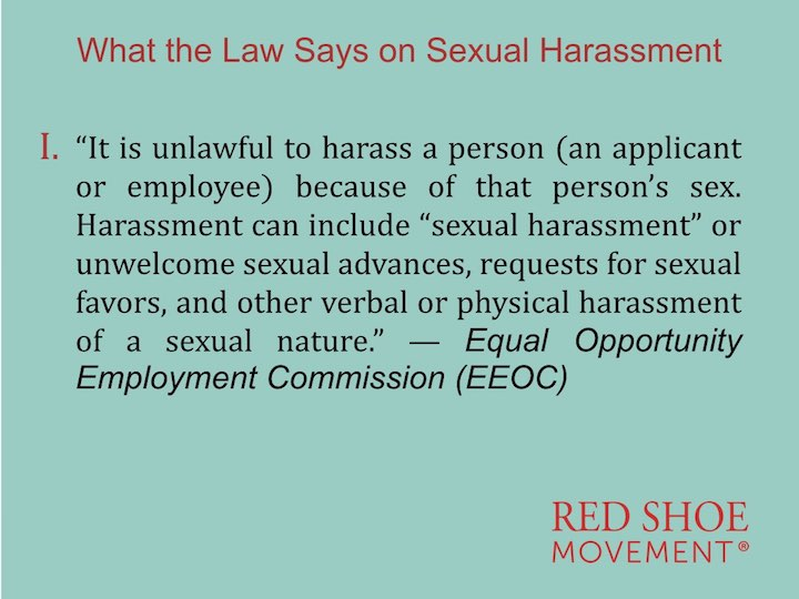 Sexual Harassment definition by EEOC First Part