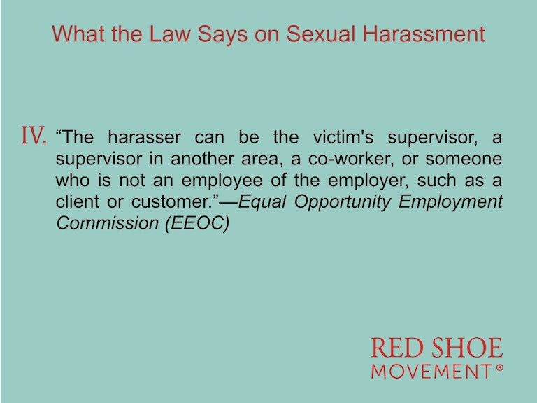 Sexual Harassment definition by EEOC Fourth Part