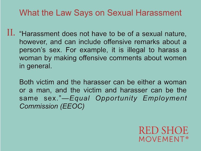 Sexual Harassment definition by EEOC Second Part