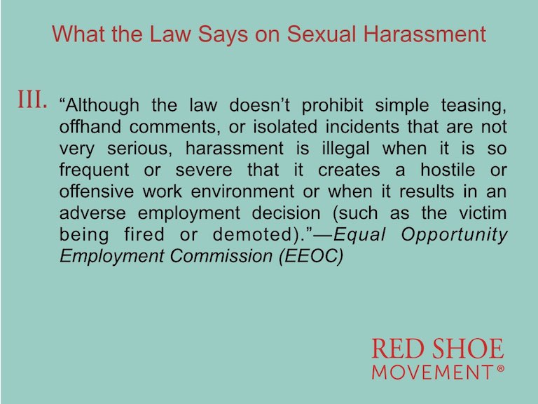 Sexual Harassment definition by EEOC Third Part
