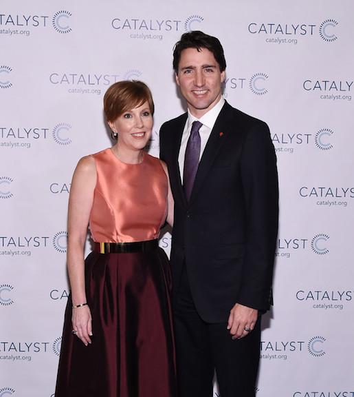Deborah Gillis and Justin Trudeau