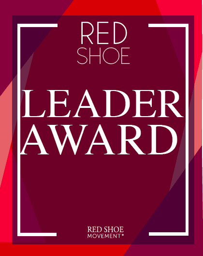 Red Shoe Leader Award seal