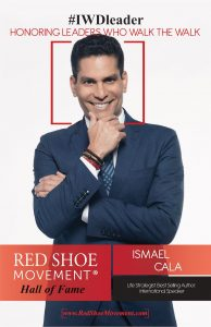 Ismael Cala in the Red Shoe Movement Hall of Fame 2018