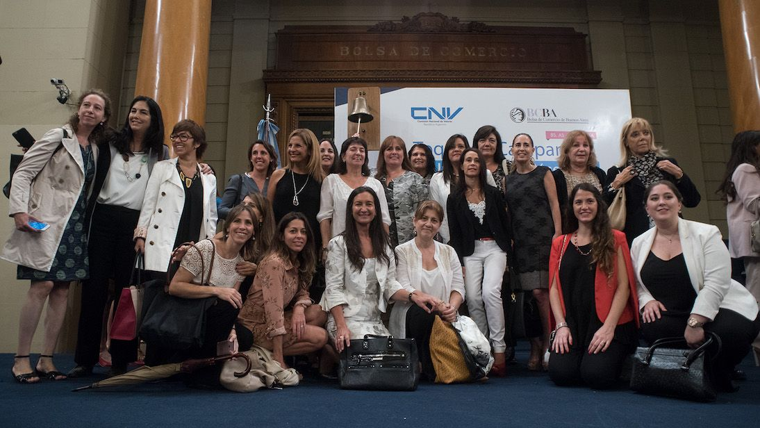 The Red Shoe Movement Argentina Chapter, Rings the Bell for Gender Equality with the country's vice president Gabriela Michetti in 2017