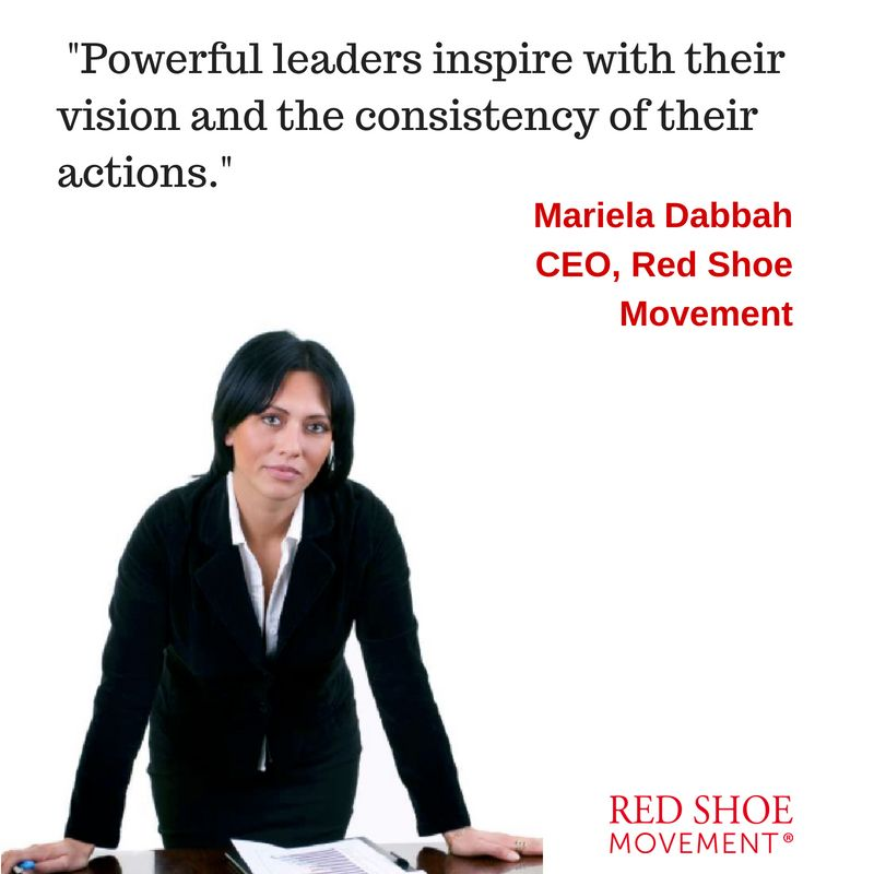 Powerful leaders inspire with their vision