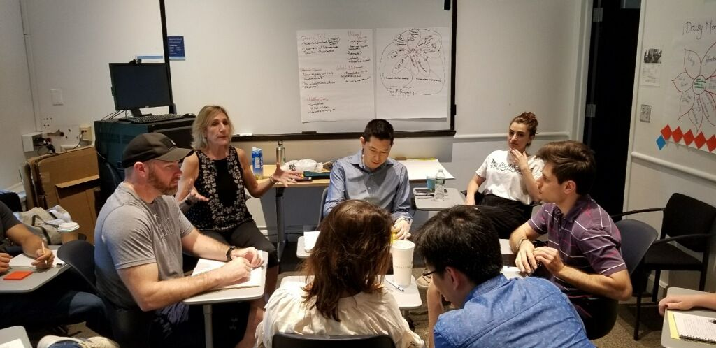 Dr. Beth-Yoshida leads groups discussions on negotiation tactics