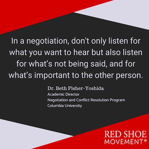 A good negotiation tactic is to listen to what's not being said.