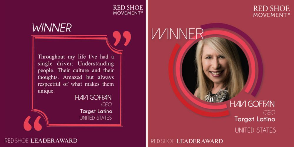 Havi Goffan inspirational quote - Red Shoe Leader Award