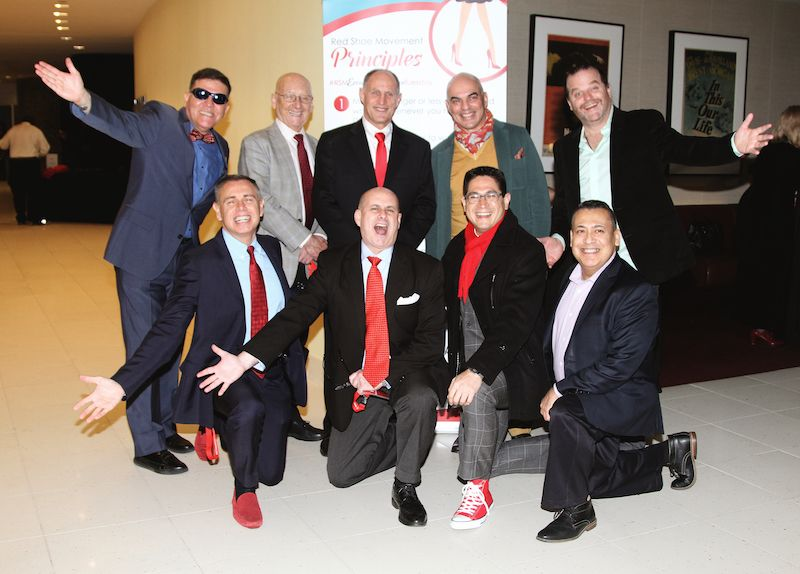 Male champions support women careers by wearing red ties on Tuesdays #RedTieTuesday