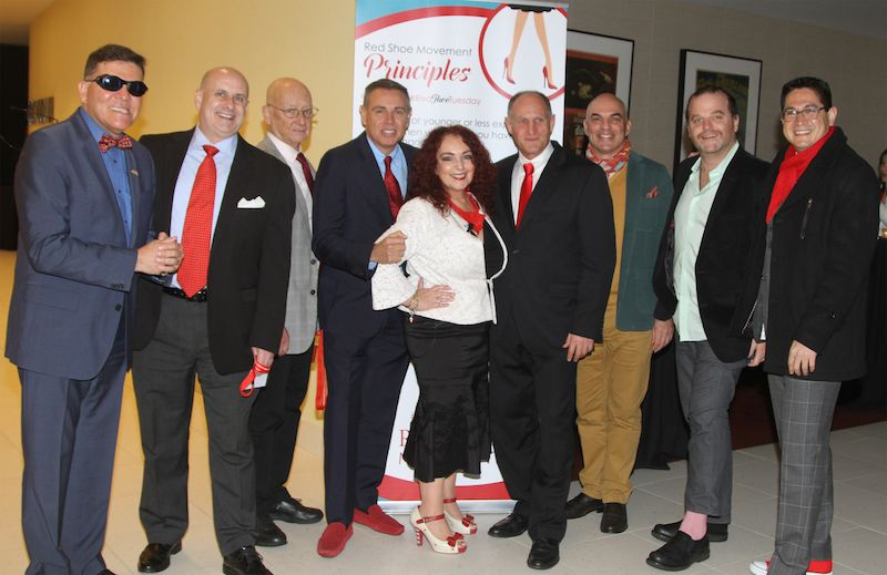 Some of the male champions at our Awards event #RedTieTuesday