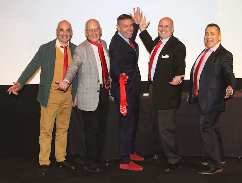 Red Shoe Leader Award honorees receive a Signature Tie