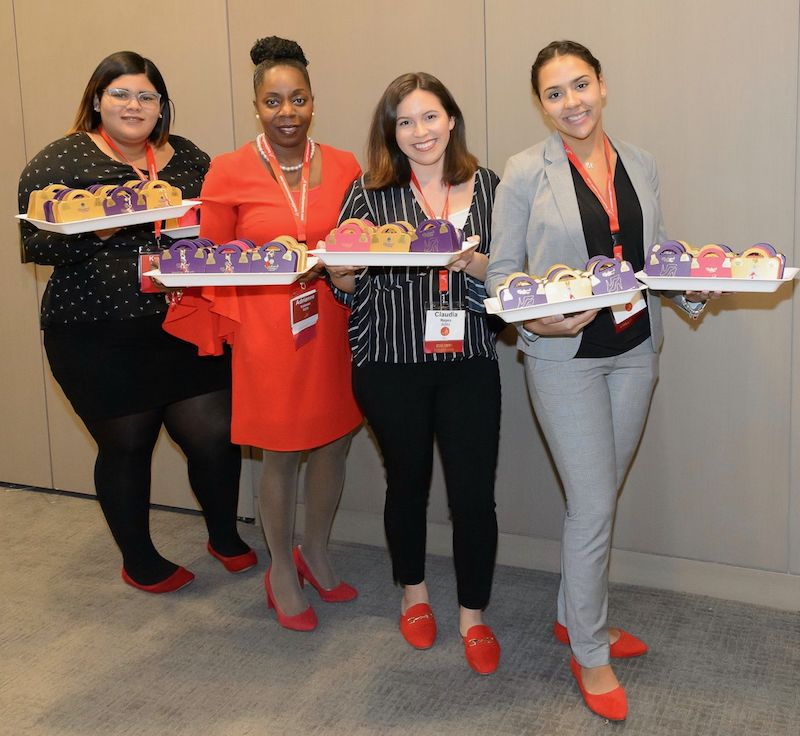Charbonnel et Walker stilettos gave the female leadership conference a special touch