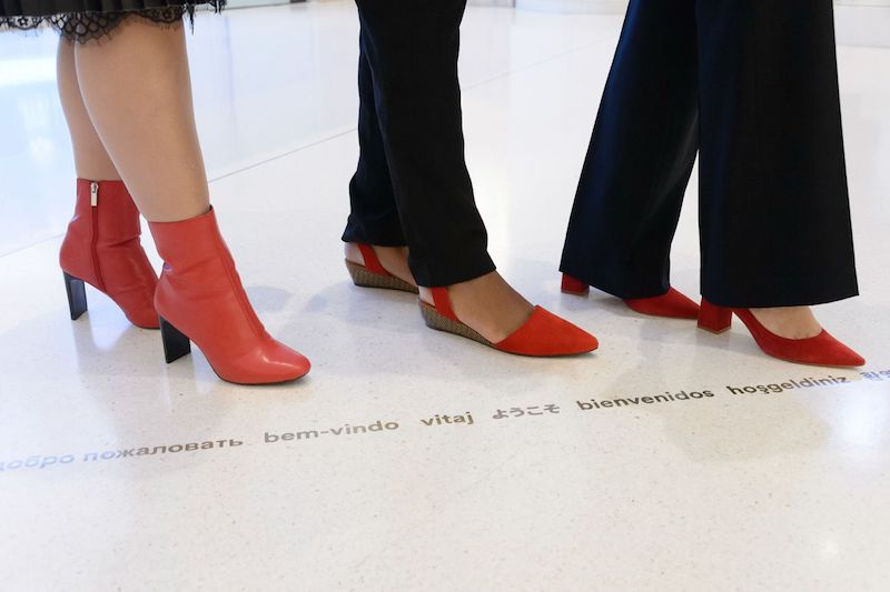 Farylrobin's designs for different Red Shoe Movement Signature Events