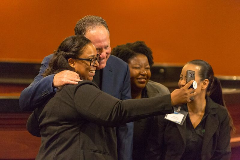 Scott Scherr takes a selfie. The organization feels like a big family.