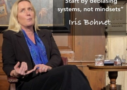 Iris Bohnet sharing about gender equality by design