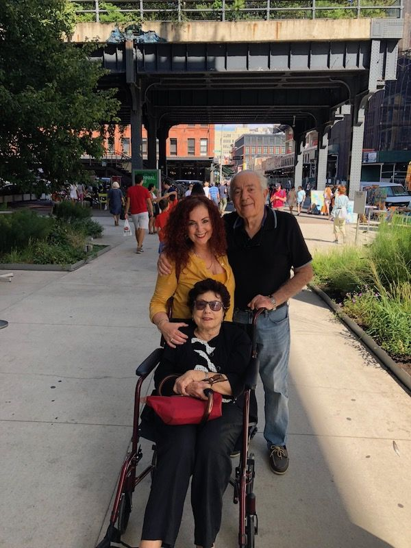 My parents and I in the Meatpacking district