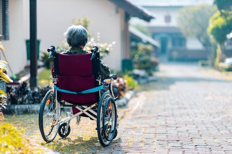 Elderly parents wheelchair bound
