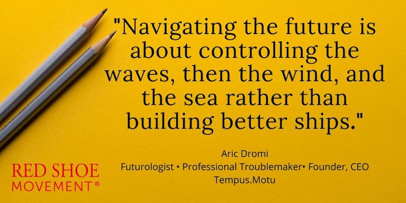 Aric Dromi helps people and organizations think about how to design the Future