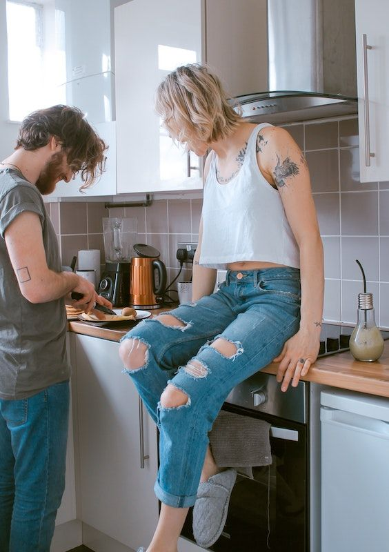 Cooking together is something you could do during the quarantine. Photo Credit- Toa Heftiba. Unsplash