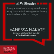 Vanessa Nakate proposes educating girls as a climate change solution.
